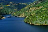 France, Languedoc Roussillon, Lozère (48), Cevennes, Villefort, le lac