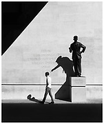 Liberty. George Orwell statue at Broadcasting House, London.
