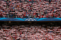 Atletico de Madrid's supporters before quarterfinal first leg Champions League soccer match at Vicente Calderon stadium in Madrid, Spain. April 14, 2015. (ALTERPHOTOS/Victor Blanco)