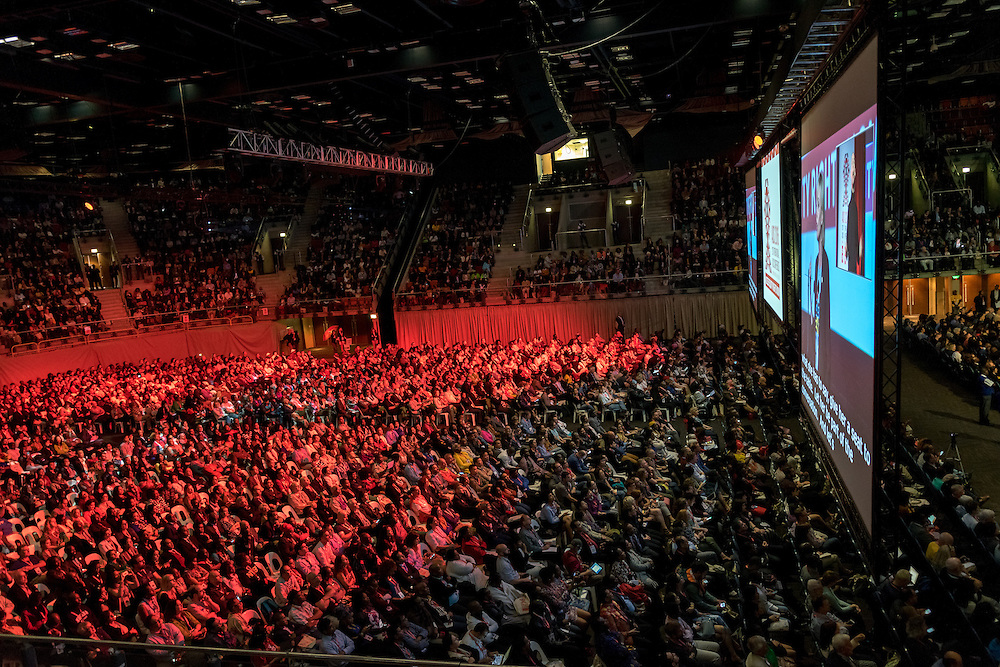 Opening session of the International AIDS Conference, AIDS 2016, in Durban, South Africa.