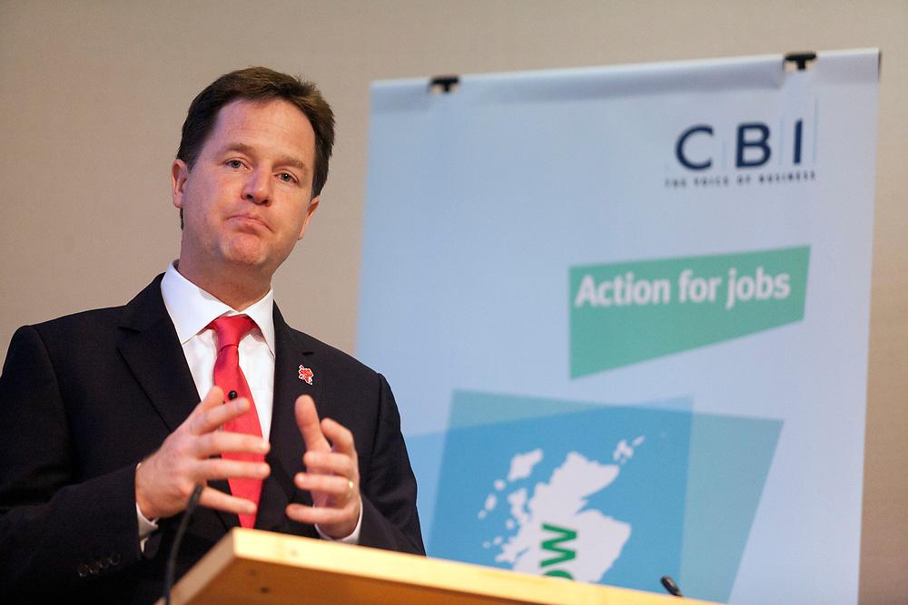 © Joel Chant  www.joelchant.com    <br /> CBI  - Action for Jobs Summit, The Royal Society, London<br /> Deputy Prime Minister Nick Clegg MP