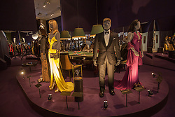 © licensed to London News Pictures. London, UK 05/07/2012. Costumes, which have been used in Casino Royale, being shown with many Bond items which have been used in the movies in the last 50 years at Designing 007 exhibition at Barbican Centre. Photo credit: Tolga Akmen/LNP