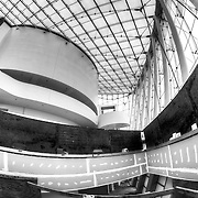 Construction of the grand lobby at the Kauffman Center for the Performing Arts, Brandmeyer Great Hall.