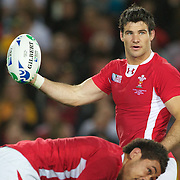 Mike Phillips, Wales, in action during the Australia V Wales Bronze Final match at the IRB Rugby World Cup tournament, Auckland, New Zealand. 21st October 2011. Photo Tim Clayton...