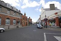 Main street of the heritage town Dalkey Village in Dublin Ireland