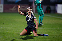 Olympique Lyonnais´s Le Sommer reacts during UEFA Women´s Champions League soccer match between Atletico de Madrid and Olympique Lyonnais, in Madrid, Spain. November 11, 2015. (ALTERPHOTOS/Victor Blanco)