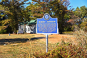 A blues marker at a church cemetery outside of Greenville establishes this site as the final resting place of the famous bluesman Robert Johnson.