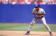 CLEVELAND - 1990:  Ken Griffey Jr. of the Seattle Mariners runs the bases during an MLB game against the Cleveland Indians at Municipal Stadium in Cleveland, Ohio during the 1990 season. (Photo by Ron Vesely)  Subject:  Ken Griffey Jr.
