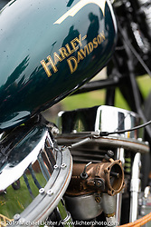 Christoffer Hultgren's Harley-Davidson Panhead chopper at the Twin Club's annual Custom Bike Show in Norrtälje, Sweden. Saturday, June 1, 2019. Photography ©2019 Michael Lichter.