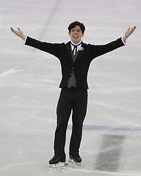 February 17, 2018 - Pyeongchang, KOREA - Keegan Messing of Canada competing in the men's figure skating free skate program during the Pyeongchang 2018 Olympic Winter Games at Gangneung Ice Arena. (Credit Image: © David McIntyre via ZUMA Wire)