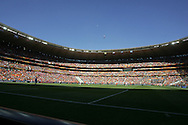 14 JUN 2010:  Soccer City Stadium at full capacity.  The Netherlands National Team played the Denmark National Team at Soccer City Stadium in Johannesburg, South Africa in a 2010 FIFA World Cup Group E match.
