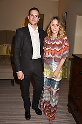 Rosie Fortescue and Harry Williams-Jones at the Rosie Fortescue Jewellery Launch, Brown's Hotel London England. 10 May 2017.<br /> Photo by Dominic O'Neill/SilverHub 0203 174 1069 sales@silverhubmedia.com