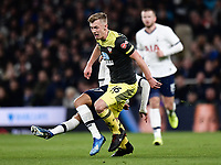 Football - 2019 / 2020 Emirates FA Cup - Fourth Round, Replay: Tottenham Hotspur vs. Southampton<br /> <br /> Southampton's James Ward-Prowse battles with Tottenham Hotspur's Lucas Moura, at The Tottenham Hotspur Stadium.<br /> <br /> COLORSPORT/ASHLEY WESTERN