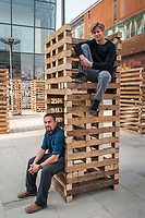 Sami Rintala (L) and Dagur Eggertsson (R), architects based in Oslo, Norway, photographed in Beijing, China.