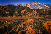 Lone Pine Peak and the Alabama Hills at sunrise