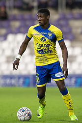 April 18, 2018 - Antwerp, BELGIUM - STVV's Elton Acolatse pictured during a soccer game between KFCO Beerschot Wilrijk and STVV Sint-Truiden, in Antwerp, Wednesday 18 April 2018, on day four of the Play-Off 2B of the Belgian soccer championship. BELGA PHOTO KRISTOF VAN ACCOM (Credit Image: © Kristof Van Accom/Belga via ZUMA Press)