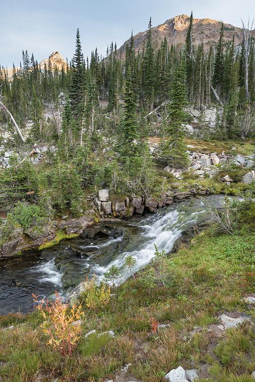 Waterfall, Wallowa Mountains, Oregon.