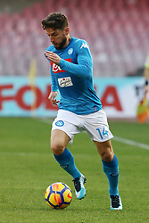 January 28, 2018 - Naples, Italy - DRIES MERTENS (SSC Napoli).., during the Serie A match between SSC Napoli and FC Bologna at Stadio S. Paolo on January 28, 2018 in Naples, Italy  (Credit Image: © Paolo Manzo/NurPhoto via ZUMA Press)