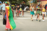 September 3, 2012- Brooklyn, New York:  Atmosphere at the 45th Annual West Indian Day Labor Day Celebration held on September 3, 2012 along Brooklyn's famed Eastern Parkway. It's one of New York City's most popular parades, a cultural festival that celebrates West Indian history, culture, music and food. Attended by as many as two million people.(Photo by Terrence Jennings)