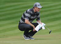 Golf - 2017 BMW PGA Championship - West Course, Wentworth<br /> <br /> Justin Rose checks out the yardage, during the first round.<br /> <br /> COLORSPORT/ANDREW COWIE