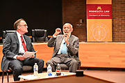 6/23/21  Civil Rights maverick, author  and Mississippi's Native son, James Meredith takes part in a roundtable discussion with students from 9th through 12th grade at The Breck School in Minneapolis. Meredith then spoke at the University of Minneapolis Law School, and it was live streamed to over 300 attorneys around the country. The law school discussion was moderated by Professor Orfield from the Law School. Meredith is in Minnesota for More Than A Moment, a series of roundtable discussions with students, educators, lawyers, and community leaders. Minnijean Brown Trickey of the Little Rock Nine was also part of the roundtable discussions, she was connected via the internet from Ontario Canada. Meredith discussed methods and ways to combat racism in America and emphasize the importance of speaking the truth and working together to make change for the better in our communities. Photo © Suzi Altman