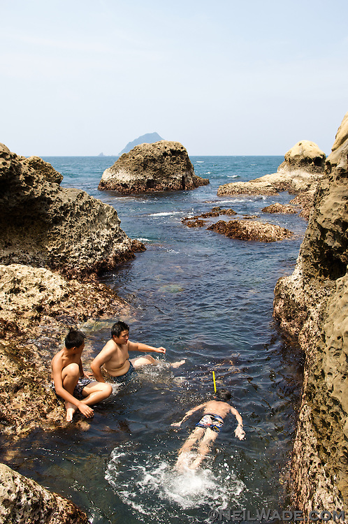 The east coast of Taiwan has some interesting geology.  This can make for some beautiful, but dangerous swimming holes.