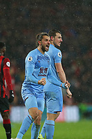 Football - 2019 / 2020 Premier League - AFC Bournemouth vs. Burnley<br /> <br /> Jay Rodriguez of Burnley reacts to the fans after his goal was awarded after the VAR check at the Vitality Stadium (Dean Court) Bournemouth <br /> <br /> COLORSPORT/SHAUN BOGGUST