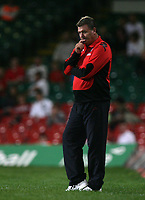 Photo: Rich Eaton.<br /> <br /> Wales v Germany. UEFA European Championships Qualifying. 08/09/2007. Wales' manager John Toshack watches his side lose 2-0 at home.