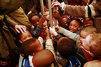 kids in the Paris metro