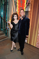 DOMINIC WEST and HELENA BONHAM-CARTER at a Night of Disco in aid of Save The Children held at The Roundhouse, Chalk Farm Road, London on 5th March 2015.