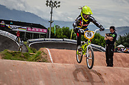 #20 (GOMEZ ECHEVERRY Estefany) COL at the 2016 UCI BMX World Championships in Medellin, Colombia.