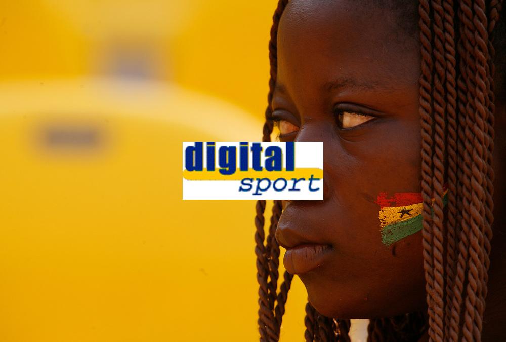 Photo: Steve Bond/Richard Lane Photography.<br />Guinea v Morocco. Africa Cup of Nations. 24/01/2008. Ghana fan