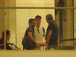 October 3, 2017 - Na - Cascais, 10/02/2017 - Concentration of the National Futenol Team at the Hotel Mirage in Cascais. Cristiano Ronaldo, Fernando Santos  (Credit Image: © Atlantico Press via ZUMA Wire)