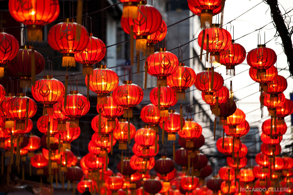 Chinese New Year lanterns in Bangkok's Chinatown