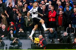 Aleksandar Mitrovic of Fulham celebrates scoring a goal to make it 2-1 - Mandatory by-line: Robbie Stephenson/JMP - 26/08/2018 - FOOTBALL - Craven Cottage - Fulham, England - Fulham v Burnley - Premier League