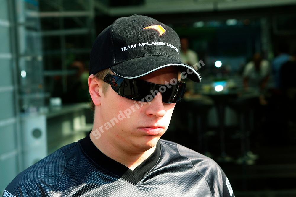 McLaren-Mercedes driver Kimi Raikkonen in the paddock before the 2006 San Marino Grand Prix at Imola. Photo: Grand Prix Photo