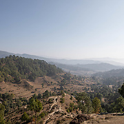 The foothills of the Himalayas on Dec. 6, 2018, where the members of the women's circle live - some traveling up to 25km to Ranikhet, India.