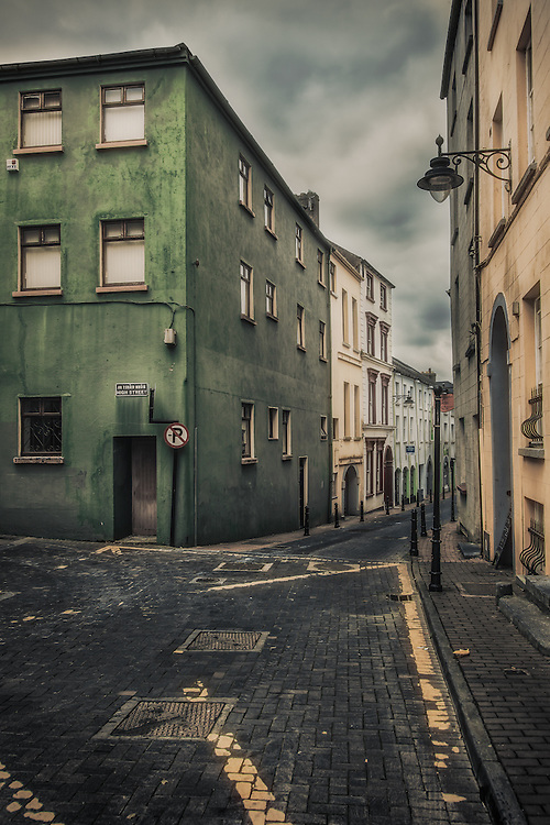 A quiet day on the High Street in Waterford, Ireland.