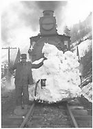 RGS class 60 locomotive after bucking snow without a plow.<br /> RGS