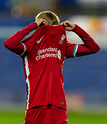 BIRKENHEAD, ENGLAND - Tuesday, September 29, 2020: Liverpool's Jake Cain looks dejected as his side lose to Tranmere Rovers during the EFL Trophy Northern Group D match between Tranmere Rovers FC and Liverpool FC Under-21's at Prenton Park. Tranmere Rovers won 3-2. (Pic by David Rawcliffe/Propaganda)