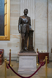 A statue of Ronald Reagan in the Capitol building in Washington DC in the United States. From a series of travel photos in the United States. Photo date: Friday, March 30, 2018. Photo credit should read: Richard Gray/EMPICS