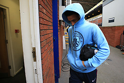 31 December 2017 -  Premier League - Crystal Palace v Manchester City - Leroy Sane of Manchester City keeping a low profile with his hood up as he enters the dressing rooms - Photo: Marc Atkins/Offside