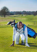 ARNHEM - Athleet Churandy Martina , sprinter, is een enthousiast golfer.  COPYRIGHT KOEN SUYK