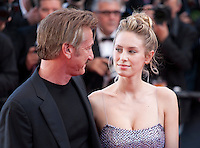 Sean Penn and Dylan Penn at the gala screening for the film The Last Face at the 69th Cannes Film Festival, Friday 20th May 2016, Cannes, France. Photography: Doreen Kennedy