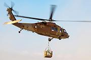 Israeli Air Force (IAF) helicopter, Sikorsky UH-60 Blackhawk (Yanshuf) in flight