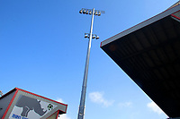 A general view of the Alexandra Stadium the home of Crewe Alexandra<br /> <br /> Photographer Mick Walker/CameraSport<br /> <br /> The EFL League 1 - Crewe Alexandra v Hull City  - Friday 2nd April  2021 - Alexandra Stadium-Crewe<br /> <br /> World Copyright © 2020 CameraSport. All rights reserved. 43 Linden Ave. Countesthorpe. Leicester. England. LE8 5PG - Tel: +44 (0) 116 277 4147 - admin@camerasport.com - www.camerasport.com