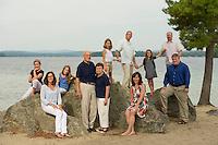 Suzanne Rickard and family Long Island Beach, Moultonboro, NH.    © Karen Bobotas Photographer