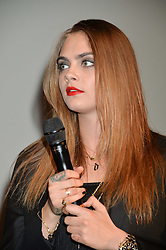 CARA DELEVINGNE at the YSL Beauty: YSL Loves Your Lips party held at The Boiler House,The Old Truman Brewery, Brick Lane,London on 20th January 2015.