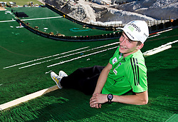 Mitja Meznar at media day of Slovenian Ski jumping team during construction of two new ski jumping hills HS 135 and HS 105, on September 18, 2012 in Planica, Slovenia. (Photo By Vid Ponikvar / Sportida)