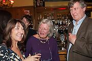LISA O'KELLY; LYNN BARBER; ALISTAIR BLAIR, The Omnivore hosts the third Hatchet  Job of the Year Award. Sponsored by the Fish Society.  The Coach and Horses. Greek st. Soho. London. 11 February 2014.